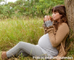 naturall pregnant woman from Natural Child Magazine